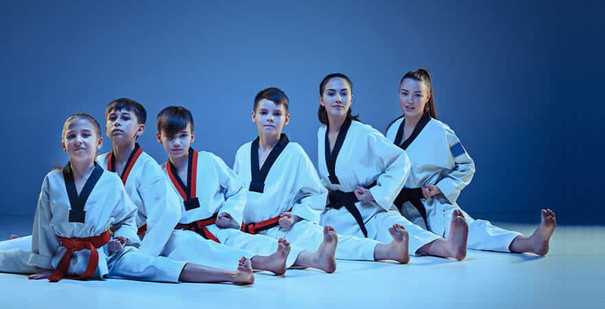 Martial Arts Lessons for Kids in Campbell CA - Kids Group Splits