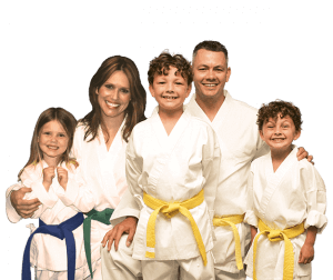 Martial Arts Lessons for Families in Campbell CA - Group Family for Martial Arts Footer Banner