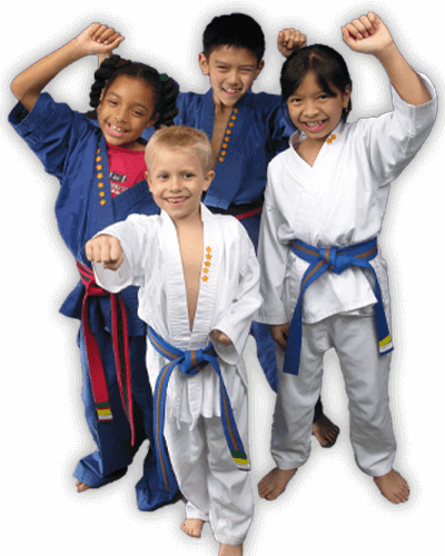 Martial Arts Summer Camp for Kids in Campbell CA - Happy Group of Kids Banner Summer Camp Page